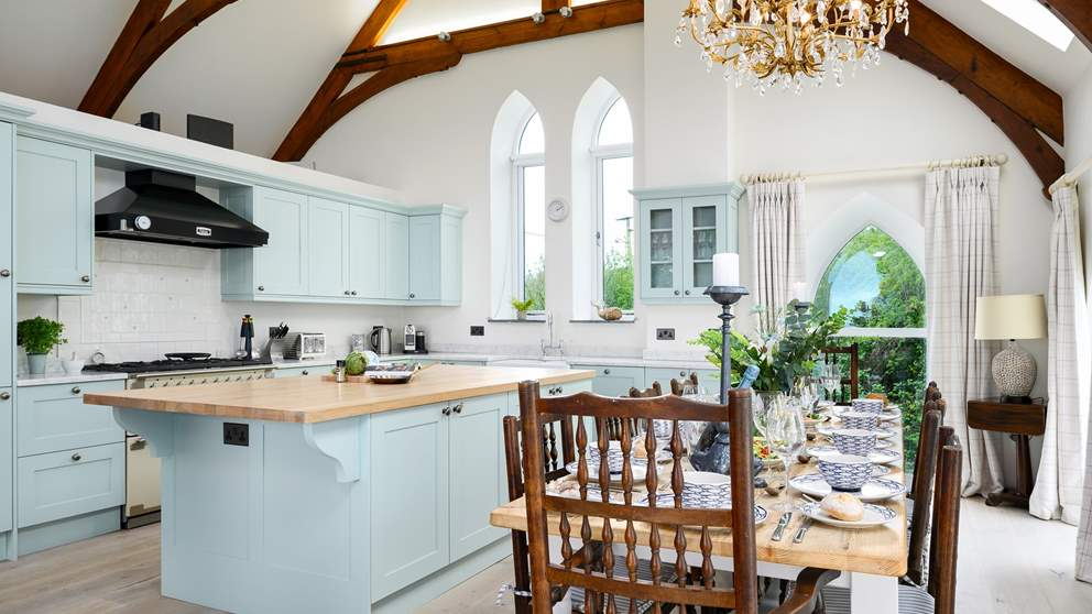 The fabulous kitchen is home to everything you'll need to rustle up a feast