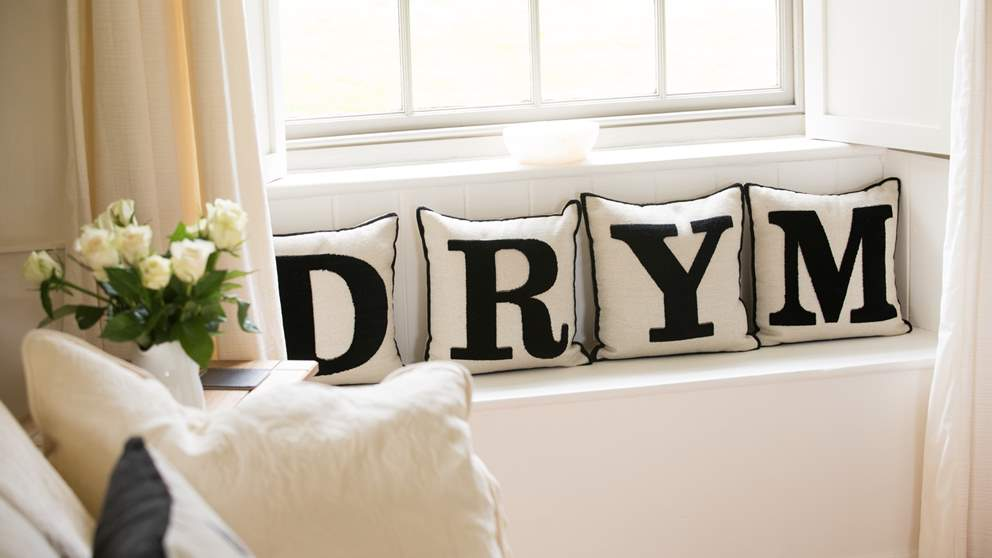 Apple Loft is located in the hamlet of Drym - we just love these cushions.