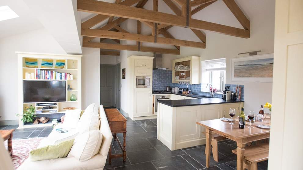 The open-plan living space makes Barn Owl Roost great for children and dogs.